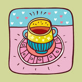 Una taza de caldo Imagen de archivo libre de regalías