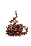 Una taza de grano de café Imagen de archivo libre de regalías