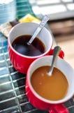 Una taza de los pares de café Fotografía de archivo