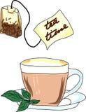 Una taza de té Stock de ilustración
