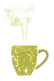 Una taza de té hecha de matcha real Fotografía de archivo