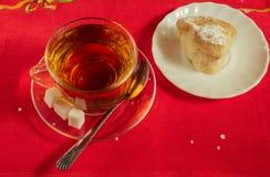 Una taza de té y de tortas hechas en casa Imágenes de archivo libres de regalías