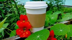 Una taza para el café publicidad Imagen de archivo