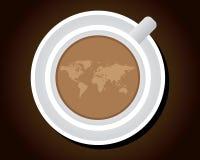 Una tazza del caffè del mondo royalty illustrazione gratis