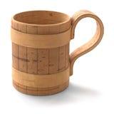Una tazza della corteccia di betulla Fotografia Stock