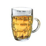 Una tazza di birra e di sudorazione Fotografie Stock