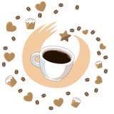 Una tazza di caffè immagine stock libera da diritti
