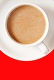 Una tazza di caffè bianca Fotografie Stock Libere da Diritti
