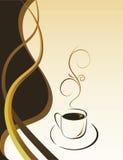Una tazza di caffè caldo Fotografia Stock Libera da Diritti
