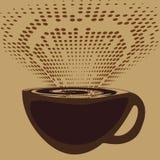 Una tazza di caffè e una fragranza aromatica Fotografie Stock Libere da Diritti