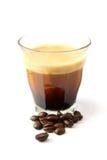 Una tazza di caffè espresso Fotografie Stock Libere da Diritti