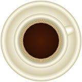 Una tazza di caffè espresso caldo con schiuma Fotografia Stock