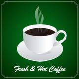 Una tazza di caffè fresco & caldo Fotografie Stock