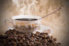 Una tazza di caffè nero Fotografie Stock Libere da Diritti