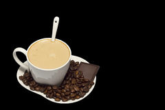 Una tazza di cappuccino immagini stock