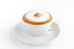 Una tazza di cappuccino Fotografia Stock