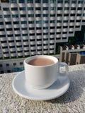 Una tazza di cioccolato caldo Immagini Stock Libere da Diritti