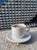 Una tazza di cioccolato caldo Fotografia Stock