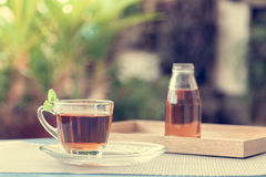 Una tazza di tè nel giardino Fotografia Stock Libera da Diritti