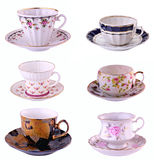 Una tazza di tè su una priorità bassa bianca Fotografia Stock