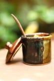 Una tazza di zucchero delizioso Fotografia Stock Libera da Diritti