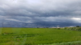 Una tempesta sfumata immagine stock
