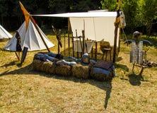 una tenda di un cavaliere immagine stock