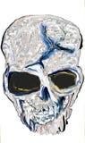 Una testa del cranio della morte immagine stock