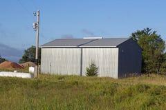Una tettoia di stoccaggio dell'azienda agricola Immagini Stock