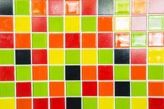 Una textura colorida de las tejas para el fondo Fotos de archivo