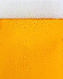 Una textura cubierta de rocio del vidrio de cerveza Foto de archivo libre de regalías