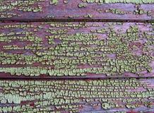 Una textura de la madera pintada vieja Fotografía de archivo libre de regalías