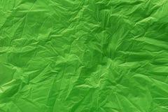 Una textura verde de la bolsa de plástico Imagen de archivo libre de regalías