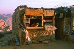 Una tienda en la manera hasta monte Sinaí Foto de archivo