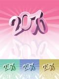 una tipografia dei 2010 calendari Illustrazione di Stock