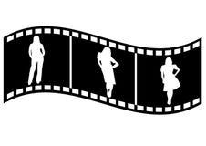 una tira de la película con los hombres de negocios stock de ilustración