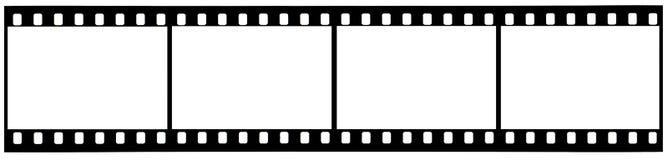 Una tira de película usada de 35m m con los caminos de recortes Imagen de archivo libre de regalías