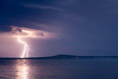 Una tormenta del relámpago Fotografía de archivo