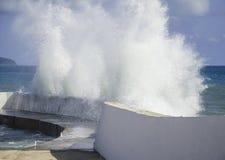Una tormenta en el mar Foto de archivo libre de regalías