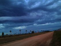 Una tormenta fría de la Argentina Imágenes de archivo libres de regalías