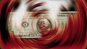 Una tornitura della banconota del dollaro video d archivio