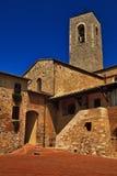 Una torre de iglesia, San Gimignano, Toscana. imagen de archivo libre de regalías