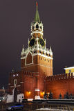 Una torre de Spassky de Kremlin, Moscú, Rusia Fotos de archivo libres de regalías