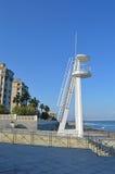 Una torre dell'allerta usata dai bagnini Immagine Stock