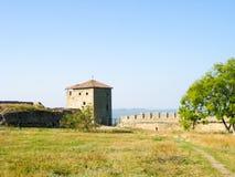 Una torre della fortezza di Akkerman, Ucraina fotografia stock