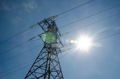 Una torre della trasmissione o torre di potere immagini stock libere da diritti