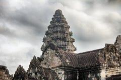 Una torre di Angkor Wat Fotografia Stock Libera da Diritti