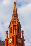 Una torre di orologio storica del calvario Baptist Church, Washington DC Immagini Stock Libere da Diritti