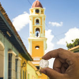Una torre di una moneta di 0,25 CUC Immagine Stock Libera da Diritti