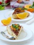 Una torta arancione Fotografia Stock Libera da Diritti